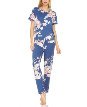 Floral-Print Pajama Set