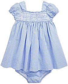 Ralph Lauren Baby Girls Gingham Cotton Seersucker Dress