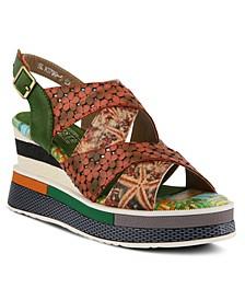 L'Artiste Women's Akosa Wedge Sandals