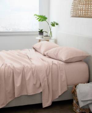 Ienjoy Home Home Collection Premium 3 Piece Ultra Soft Flannel Bed Sheet Set, Twin Bedding In Blush