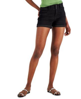 Juniors' Three-Button Denim Shorts