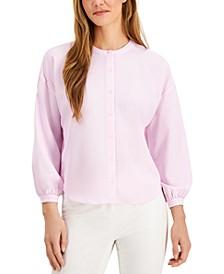 Petite Blouson-Sleeve Blouse, Created for Macy's