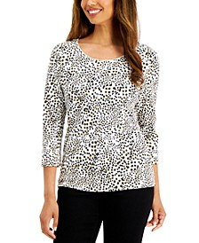 Leopard Flow Printed Top, Created for Macy's