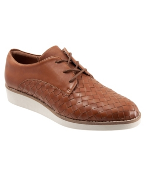 Softwalk Women's Willis Oxford Women's Shoes In Saddle Woven