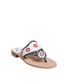 Women's Patriotic Rattan Jacks Sandal