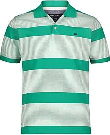 Little Boys End on End Stripe Polo Shirt