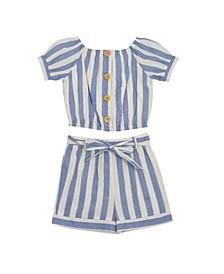 Big Girls Stripe Short Set, 2 Piece