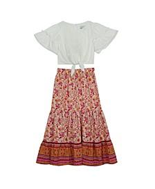 Big Girls Printed Maxi Skirt Set, 2 Piece
