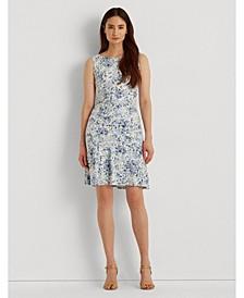 Petite Floral Sleeveless Jersey Dress