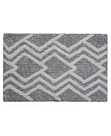 "Geometric Pattern Bathroom Rug, 32"" L x 20"" W"