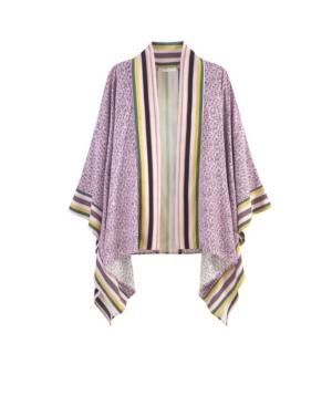 Women's Print Block Kimono