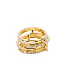 Stackable Roseline Ring