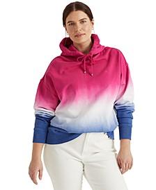 Plus Size Dip-Dyed Hoodie