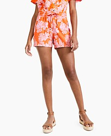 Petite Floral-Print Pull-On Shorts, Created for Macy's