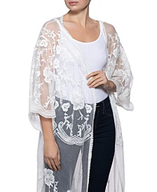 INC Lace Kimono, Created for Macy's