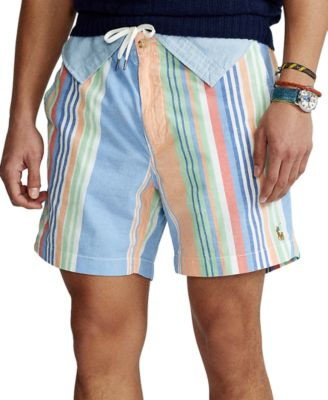 폴로 랄프로렌 Polo Ralph Lauren Mens 6-Inch Polo Prepster Striped Shorts,Multi Stripe