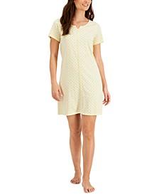 Cotton Crochet-Trim Sleep Shirt, Created for Macy's