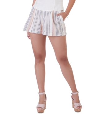 Lightweight Striped Cuffed Shorts