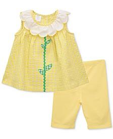 Baby Girls 2-Pc. Sunflower Tunic & Shorts Set
