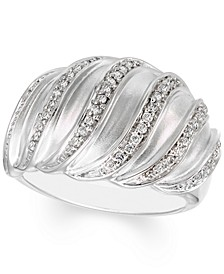 Diamond Multirow Statement Ring (1/4 ct. t.w.) in Sterling Silver