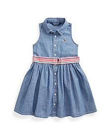 Toddler Girls Indigo Chambray Shirt Dress