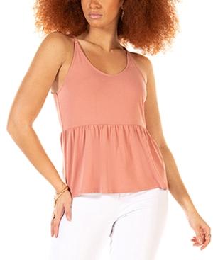 Soft Peplum Knit Cami Top