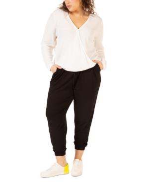 Plus Size Drawstring Jogger Pants