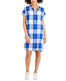 Petite Plaid Dress, Created for Macy's