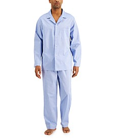 Men's 2-Pc. Solid Oxford Pajama Set, Created for Macy's