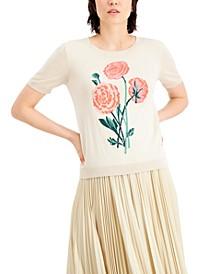 Rose-Print Sweater