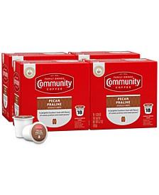 Pecan Praline Medium Roast Single Serve Pods, Keurig K-Cup Brewer Compatible, 72 Ct
