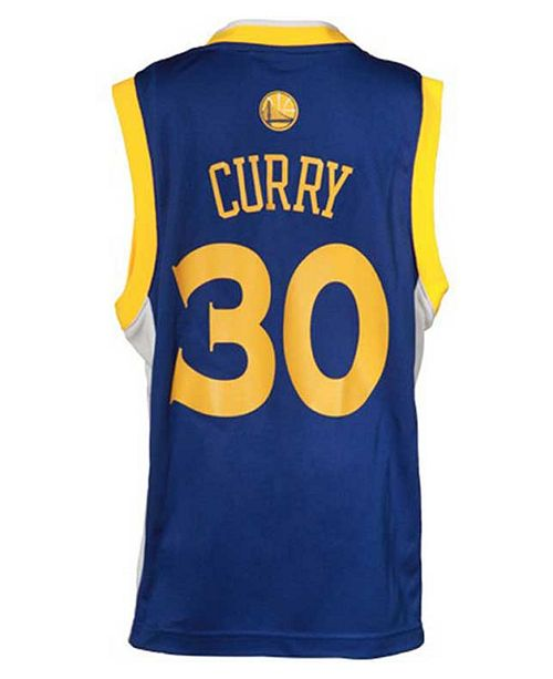 adidas Kids' Stephen Curry Golden State Warriors Revolution 30 Jersey, Big Boys (8-20)