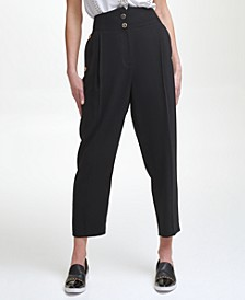 Karl Lagerfeld High Waisted Pleated Pant