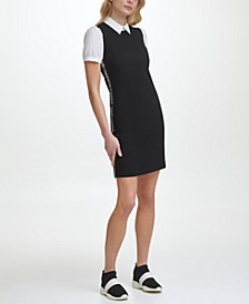 Twofer Dress with Logo Taping