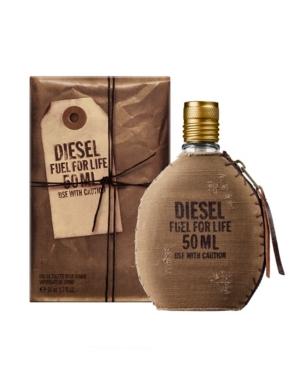 Diesel MEN'S FUEL FOR LIFE EAU DE TOILETTE, 1.7 OZ