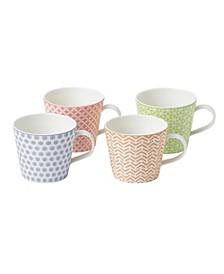 Pastels Accent Mugs Set/ 4