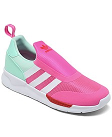 Little Girls ZX 360 Slip-On Casual Sneakers from Finish Line