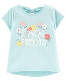 Toddler Girls Sisters Jersey Tee