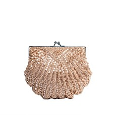 Iconic Fully Beaded Shell Clutch