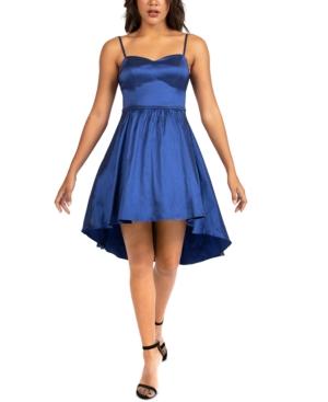 Juniors' Taffeta Ladder-Back Dress