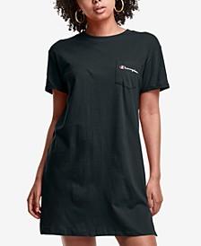 Women's Crewneck Cotton T-Shirt Dress