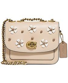 Madison Tea Rose Knot Leather Shoulder Bag