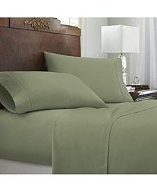 Expressed In Embossed by The Home Collection Chevron 4 Piece Bed Sheet Set, King