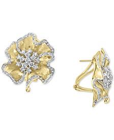 EFFY® Diamond Flower Stud Earrings (1-5/8 ct. t.w.) in 14k Gold