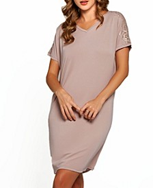 Women's Estelle Modal and Lace V-Neck Sleep Gown