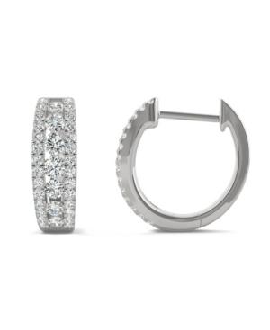 Moissanite Huggie Earrings 3/4 ct. t.w. Diamond Equivalent in 14k White Gold