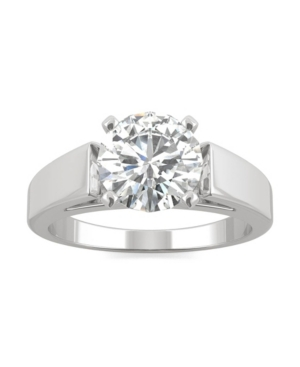 Moissanite Solitaire Ring 1-9/10 ct. t.w. Diamond Equivalent in 14k White Gold