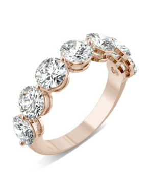 Moissanite Seven Stone Band 3-1/2 ct. t.w. Diamond Equivalent in 14k White Gold