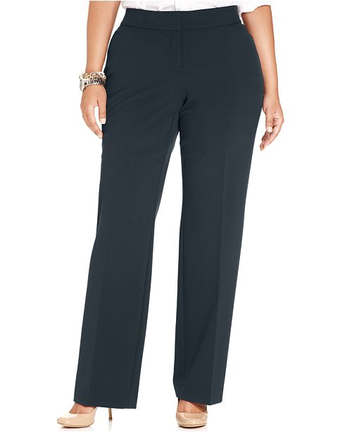 JM amp; Collection for Fit Petite Pants Size Blue Straight Macy's Intrepid Plus Created Leg Curvy Plus rSrECUHqwx