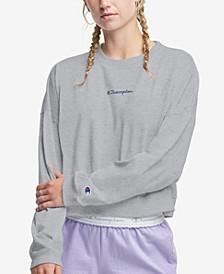 Women's Cropped Cotton Sweatshirt